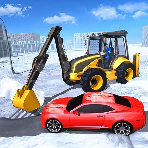 Pesante escavatore Snow Plough Simulator