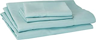 Comfort Spaces Ultra Soft Hypoallergenic Microfiber 4 Piece Set, Wrinkle Fade Resistant Sheets with Pillow Cases Bedding, Twin, Aqua