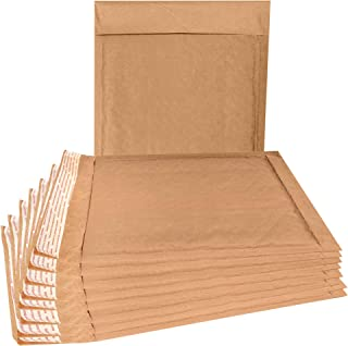 25 Pack Natural Kraft padded envelopes 8.5 x 11 Bubble Mailers 8 1/2 x11 Brown bubble envelopes. Peel and Seal. Brown cushion envelopes for shipping, packing. Durable kraft mailers in bulk, wholesale.