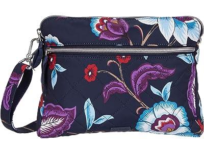Vera Bradley Performance Twill Triple Compartment Crossbody (Mayfair in Bloom) Handbags