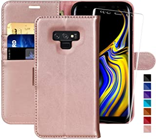 MONASAY Galaxy Note 9 Wallet Case, 6.4 inch [Included Screen Protector] Flip Folio Leather Cell Phone Cover with Credit Card Holder for Samsung Galaxy Note 9