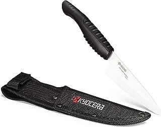 Kyocera CKT-105WH-BK Outdoor Ceramic Camp Kitchen Knife and Sheath Set, 4