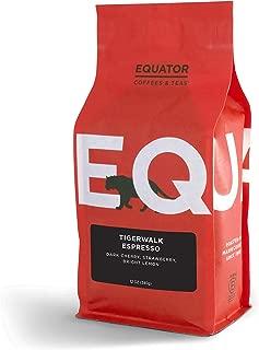 Equator Coffees & Teas Tigerwalk Espresso, Roasted to Order and Fine Ground for Espresso or Moka Pot, 12 Ounce Bag