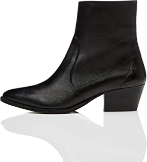 Marca Amazon - find. Unlined Western Leather - Botines Mujer