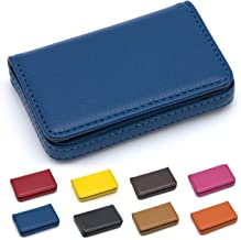 Padike Business Name Card Holder Luxury PU Leather,Business Name Card Holder Wallet Credit Card ID Case/Holder for Men & Women - Keep Your Business Cards Clean(Blue)