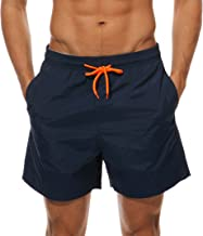 WEVIAS Men's Short Swim Trunks Best Board Shorts for Sports Running Swimming Beach Surfing Quick Dry Breathable Mesh Lining