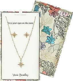 Vera Bradley - Sparkling Star Earrings & Necklace Set