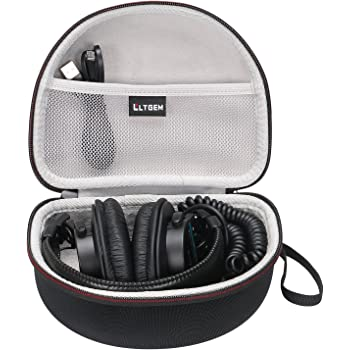 LTGEM Hard Headphones Case for Sony MDR7506 & MDRV6 Professional Large Diaphragm Headphone, with Mesh Pocket Fits Cable and Accessories, for Travel, Storage, Carrying and More