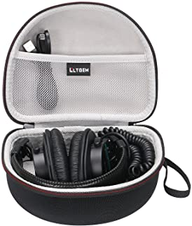 LTGEM Hard Headphones Case for Sony MDR7506 & MDRV6 Professional Large Diaphragm Headphone, with Mesh Pocket Fits Cable an...