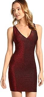 Women's Sleeveless V Neck Backless Evening Party Bodycon Dress