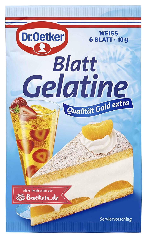 sold Milwaukee Mall out Dr. Oetker Blatt Gelatine Weiss