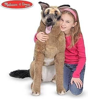 Melissa & Doug Giant German Shepherd - Lifelike Stuffed Animal Dog (over 2 feet tall)