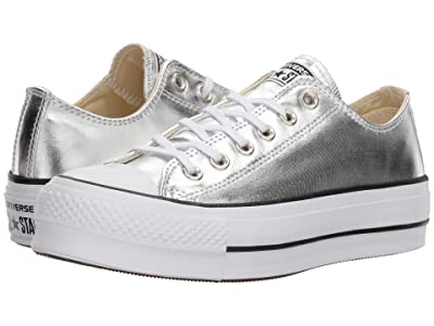 Converse Chuck Taylor(r) All Star Canvas Lift (Silver/Black/White) Women