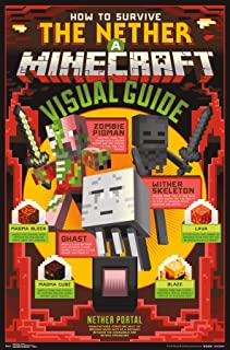 Trends International Minecraft-The Nether Mount Bundle Wall Poster, 22.375