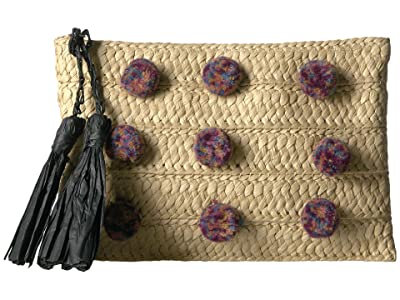 San Diego Hat Company Pom Clutch (Natural) Clutch Handbags