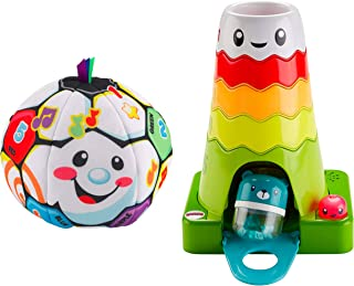 Fisher-Price Laugh & Learn Singin Soccer Ball Bundled Stack & Slide Magic Mountain