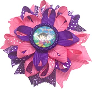 Dora The Explorer Hair Bow, Little Girl Bows, Toddler Hair Bows,