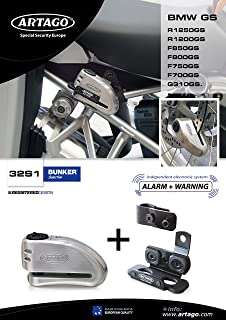 Artago 120H220-I Candado Antirrobo Moto U Alta Gama Monoblok Forjado Doble Cierre Homologado Sra 120x220 mm