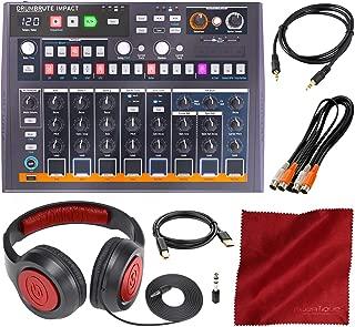 Arturia DrumBrute Impact Analog Drum Machine with Headphones and Accessory Bundle
