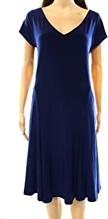 Womens Solid Sheath Dress Navy M