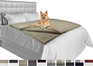 PetAmi Dog Blanket, Sherpa Dog Blanket   Plush, Reversible, Warm Pet Blanket for Dog Bed, Couch, Sofa, Car