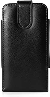 Black Texture Vertical Hip Belt Clip Holster Case Pouch Bag Compatible for Samsung Galaxy Note 9 8 / S9+ S8+ / S8 Active / A6+ A7 A8+ J7 J8 / Apple iPhone 8 7 Plus