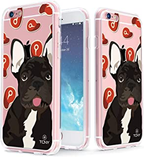 True Color Case Compatible with iPhone 6s Case - Clear-Shield French Bulldog My Lovely Pet Collection Printed on Clear Back - Soft and Hard Thin Shock Absorbing Dustproof Full Protection Bumper Cover