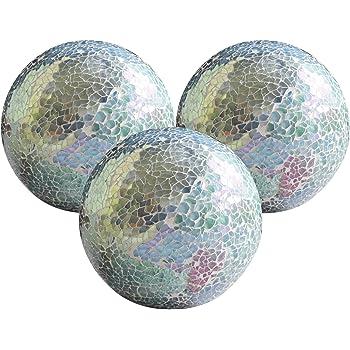 "5PCS Home Decor Modern 3/"" Mosaic Glass Decorative Balls//Sphere Accessory Set"
