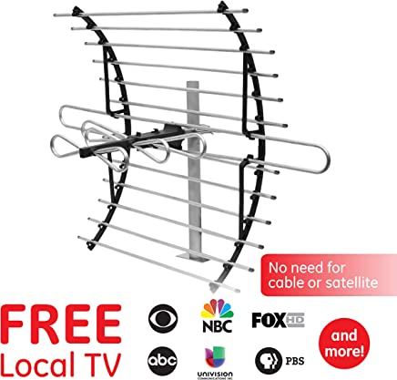 $35 Get GE Pro Attic Mount TV Antenna, Attic, Long Range Antenna, Directional Antenna, Digital, HDTV Antenna, 4K 1080P VHF UHF, Compact Design, Mounting Pole Included, 33692