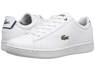 Lacoste Kids Carnaby Evo (Little Kid/Big Kid) (White/Navy) Kids Shoes