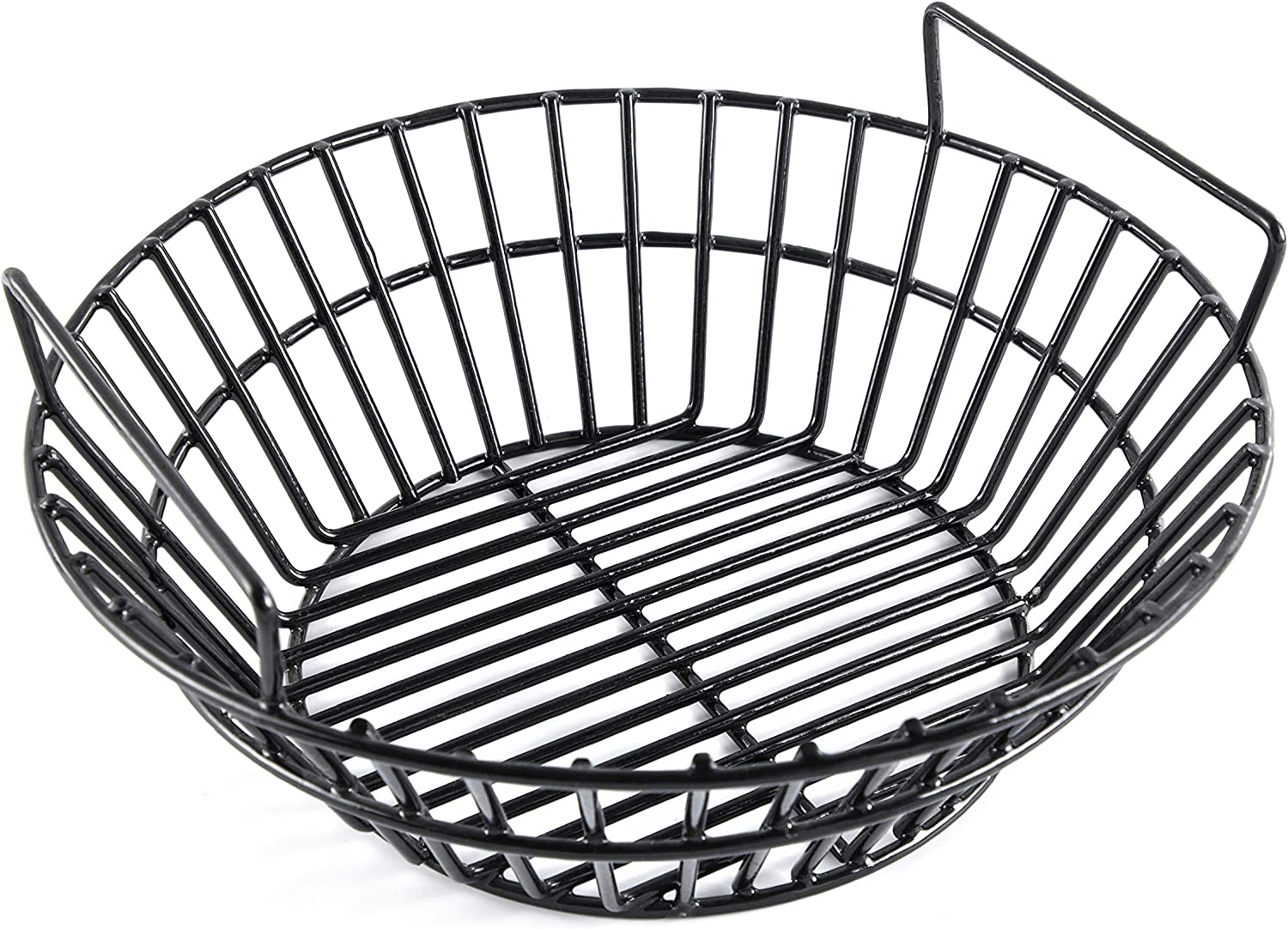EasiBBQ Charcoal Ash Basket for Large Big Green Egg Grill, Kamado Classic, Pit Boss, Louisiana Grills, Primo Kamado Grill and Large Grill Dome, Heavy Duty Porcelain Steel