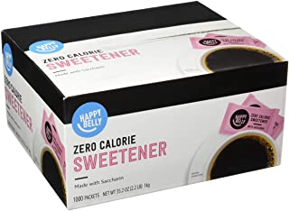 Amazon Brand - Happy Belly Zero Calorie Pink Saccharin Sweetener, 1000 Count (Previously Sugarly Sweet)