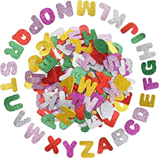 Livder 200 Pieces Glitter Colorful Self-Adhesive Letter Stickers Letters Alphabet Stickers for Children's DIY Crafts, Lett...