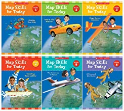 Scholastic Map Skills for Today Complete Books Set (6 Books): Grade 1 - 6