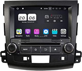 8 Inch TouchscreenAndroid 8.1 OS Car Radio Compatible with Peugeot 4007(2006-2013), DVD Player Bluetooth DAB+ Radio Head Unit