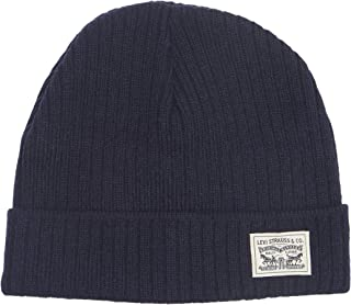Levi's Classic Warm Winter Knit Beanie Hat Cap Fleece Lined for Men and Women