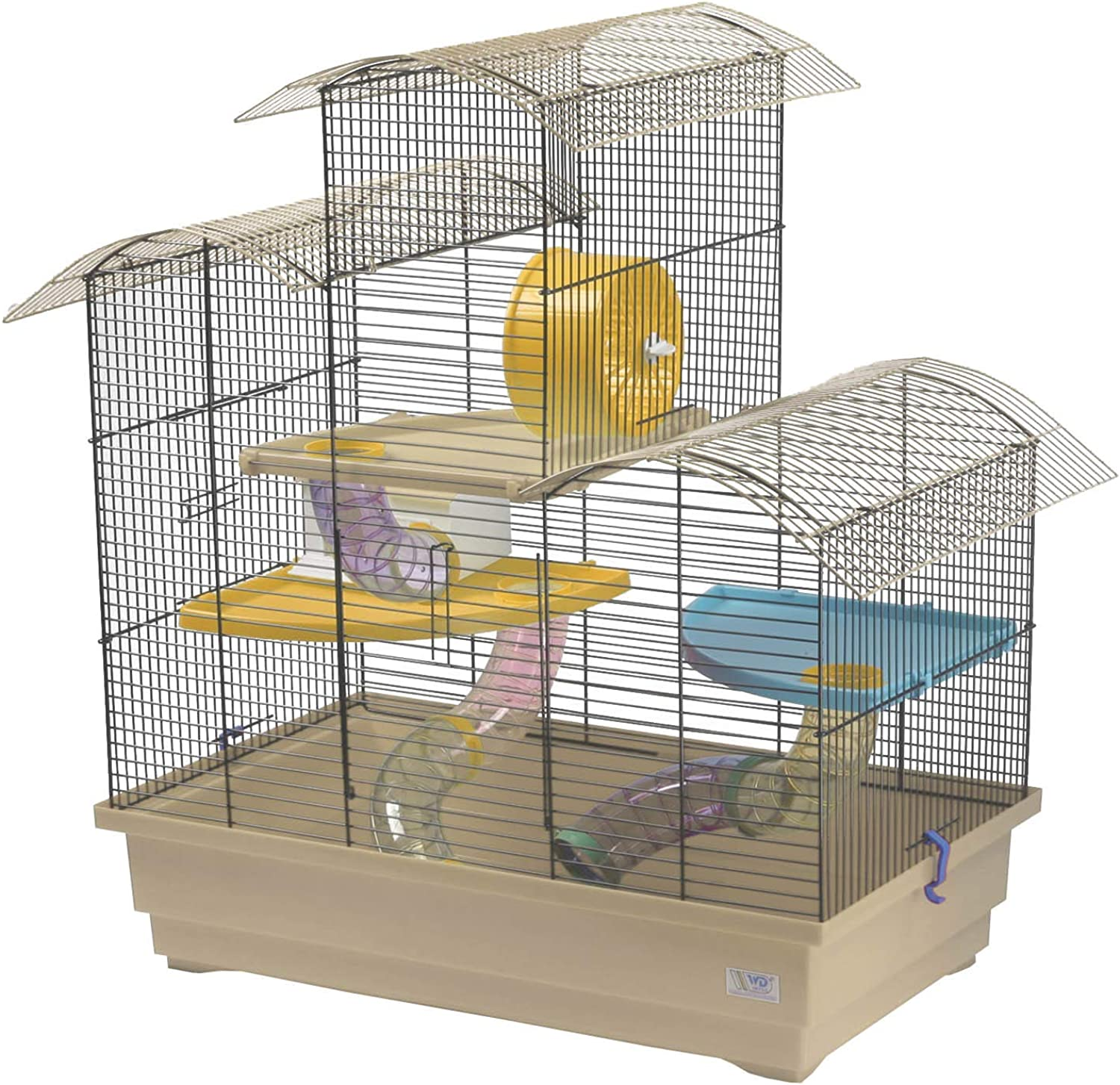 Decorwelt Hamster Cages Beige Exterior Dimensions 70 x 43 x 70 cm Plastic Rodent Cage with Accessories