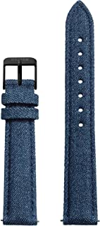 Blue/Black Leather Strap 16mm Fits Minuit, La Roche Petite, La Tétragone & Triomphe CLS353