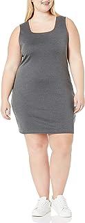 فستان ضيق برقبة مربعة للنساء من Star Vixen مع أربطة متباينة