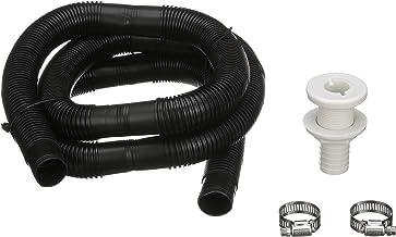 "Plastic Thru-Hull Bilge Pump and Aerator 1 1//2/"" Hose Fitting for Boat//Canoe"