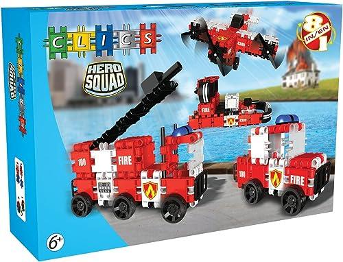 bienvenido a elegir Clics Toys - Héroes Bomberos Bomberos Bomberos Caja, 8 Modelos en 1 (BBM NV BC002)  Compra calidad 100% autentica