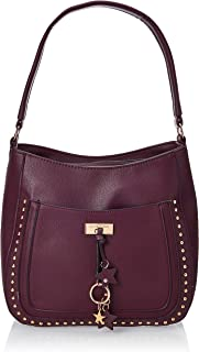 U.S. Polo Assn. Hobo Bag for Women- Burgundy