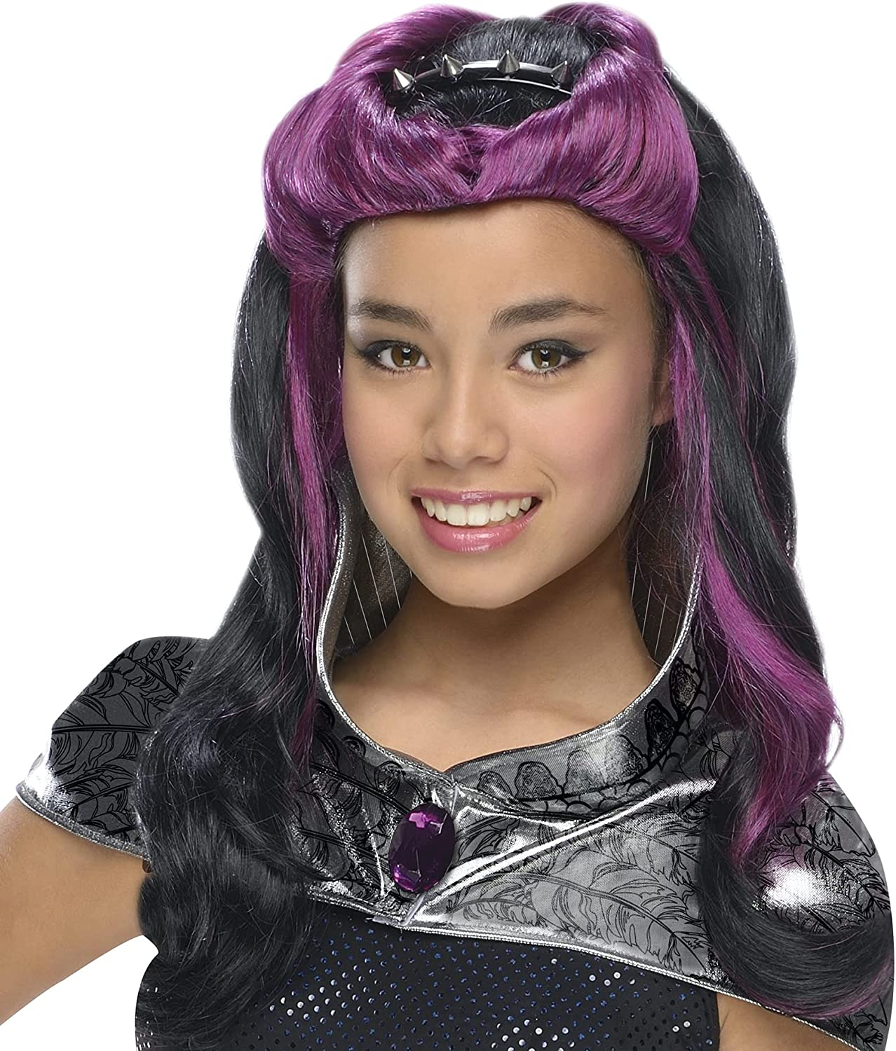 Rubies Ever After High Child Raven Queen Wig with Headpiece : Clothing, Shoes & Jewelry