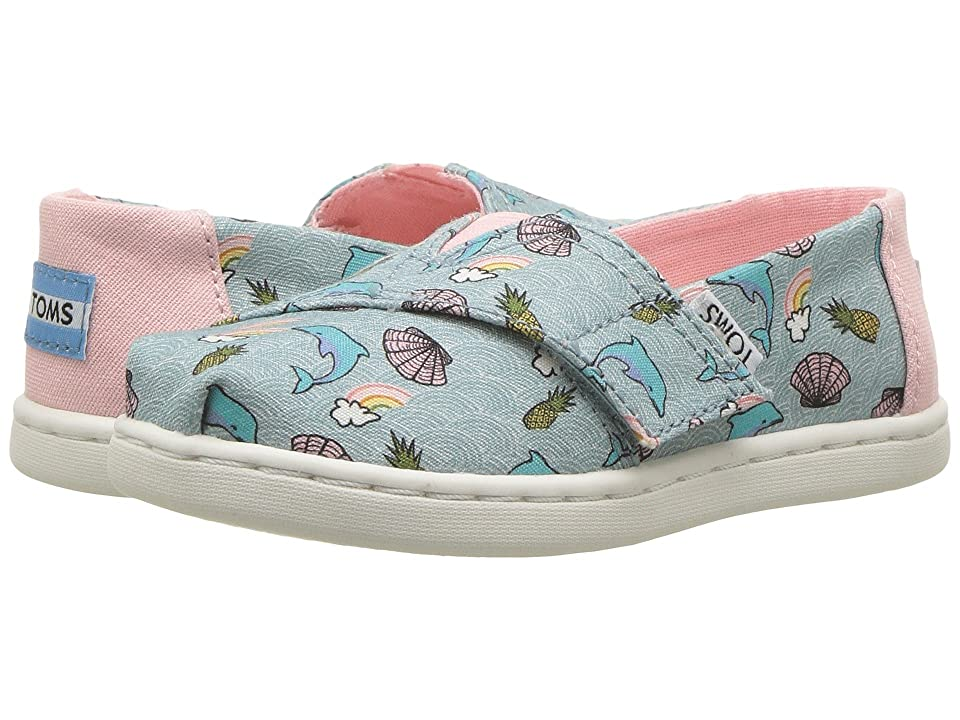 TOMS Kids Alpargata (Infant/Toddler/Little Kid) (Seaglass Dolphins) Girl
