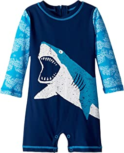 Hatley Kids - Shark Alley Mini Rashguard One-Piece (Infant)