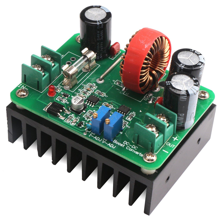 DROK DC/DC Boost Converter 12-60V to 12-80V Step-up Voltage Regulator 600W Auto Power Supply Transformer Adjustable Output Volt Controller Stabilizer Board Laptop Motor