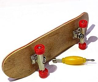 camelCase Solutions Wooden Fingerboard with Professional Bearing Wheels, Metal Trucks, and Foam Grip Tape - Pro Finger Board Deck - Complete Starter Board - 30mm x 100mm