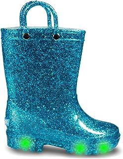 أحذية المطر للأطفال الصغار اللامعة المضيئة من زوجز للفتيات