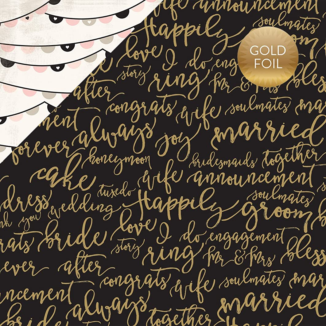 Echo Park Paper WB129007 Wedding Bliss Foiled Cardstock 12