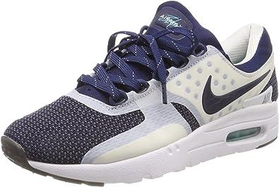 Nike Air Max Zero QS, Chaussures de Running Femme, Blanc/Bleu ...